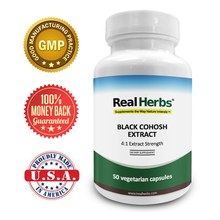 Load image into Gallery viewer, Black Cohosh  4:1 Extract Strength 600mg – 50 Vegetarian Capsules