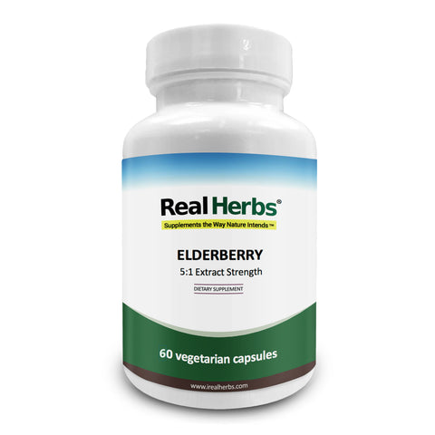 Elderberry Extract 5:1 with 5% Flavonoids - 60 Vegetarian Caps