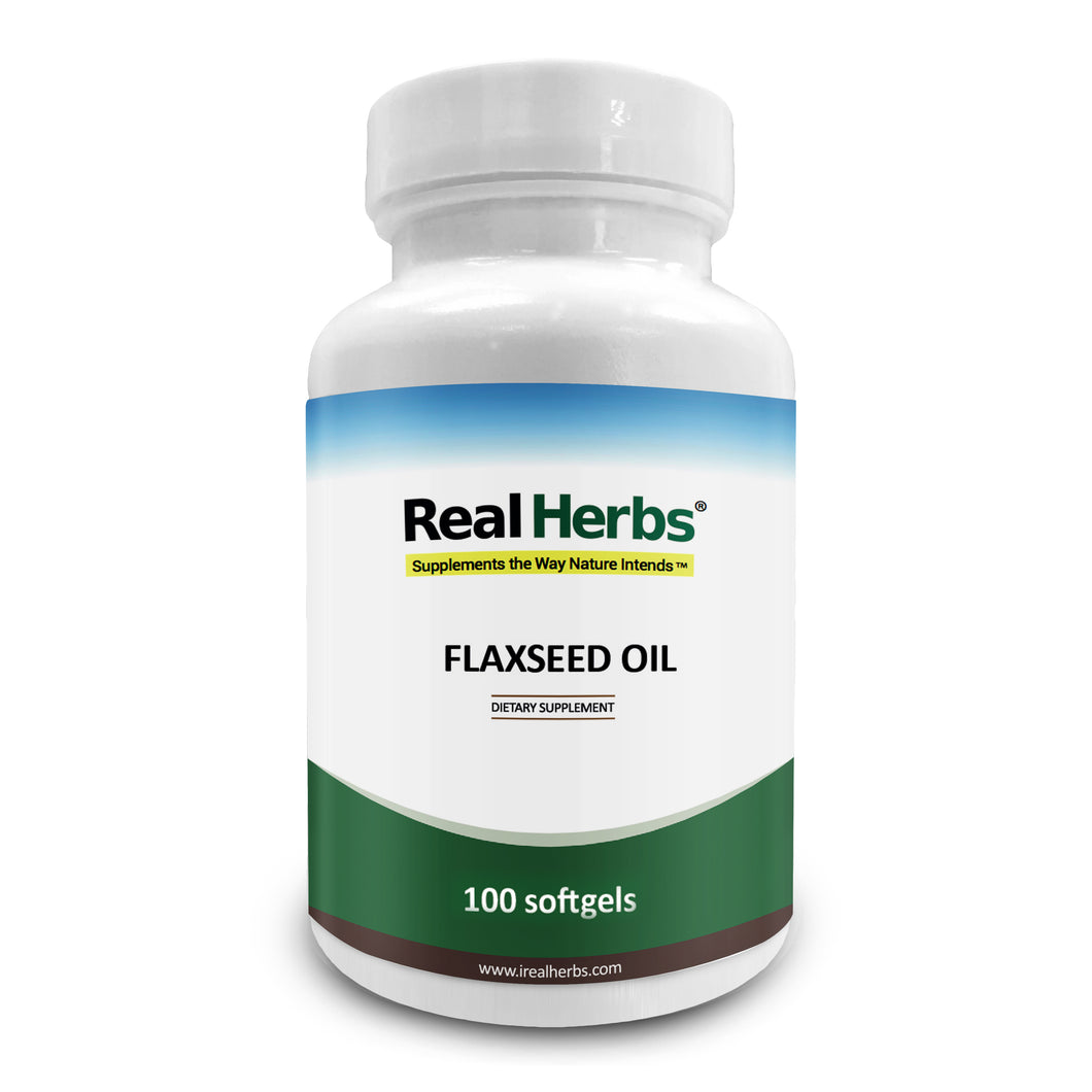 Flaxseed Oil (Cold-pressed) - 1000mg/Softgel - 100 Softgels