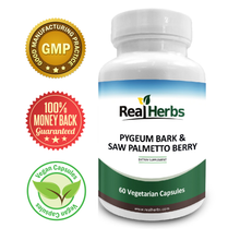 Load image into Gallery viewer, Pygeum Bark Extract 4:1 & Saw Palmetto Extract 4:1 - 700mg/cap - 60 Vegetarian Capsules
