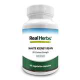 Real Herbs White Kidney Bean 20:1 Extract 700mg - 50 Vegetarian Capsules