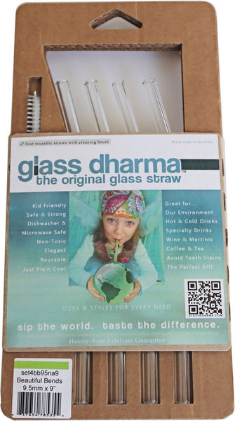 Glass Dharma 'Beautiful Bends' glass straw