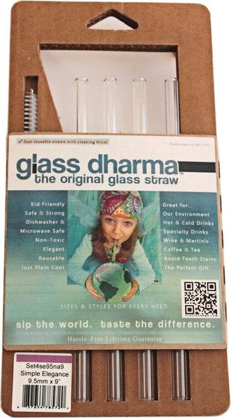 Glass Dharma 'Simple Elegance' glass straw