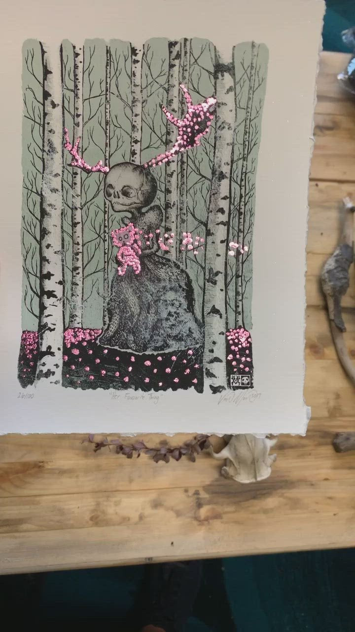 Her Favourite Thing 26 of 100 with Hand Embellished Pink Foiling
