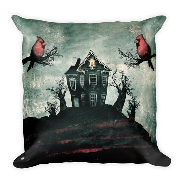 """House on the Hill"" Square Pillow"