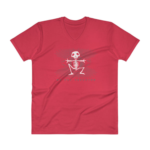 "V-Neck T-Shirt ""My Pet Skeleton"" Official Logo"