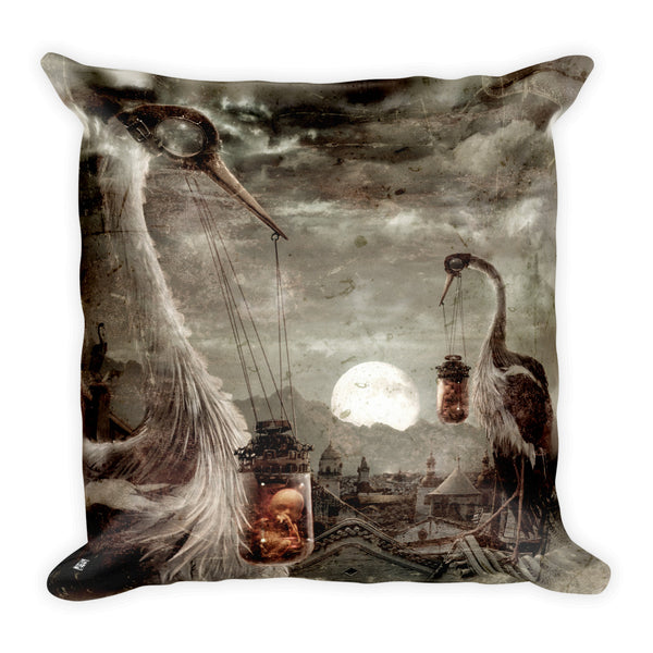 """The Storks"" Square Pillow"