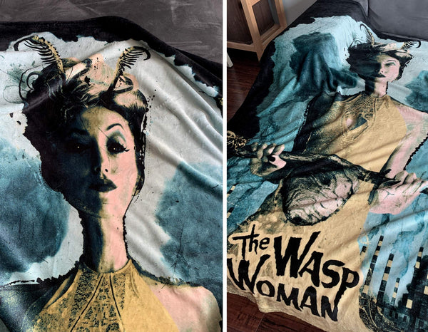 Wasp Woman Poster Throw