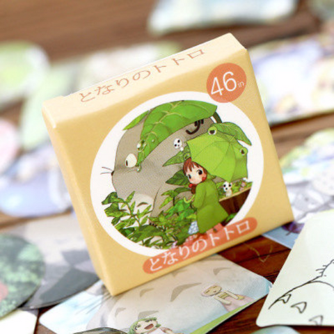 My neighbor totoro stickers Box Set, Kawaii Cartoon Cat and Friends Labels,label stickers