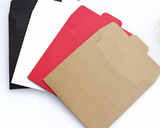 5x5 inche CD sleeves - thick paper, party favour- DVD, CD wedding favors, photography packaging