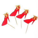 30th birthday Cupcake Toppers, red high heel toppers,  30 girl birthday party decor