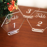 Acrylic Clear Table Numbers -wedding Standing Numbers, Clear Acrylic table Decor, table Centerpieces, Hexagon table number