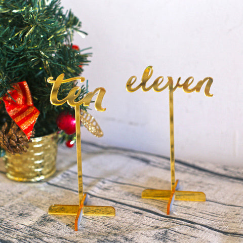 Acrylic wedding Table Numbers ,Standing Numbers ,Gold table numbers, party Decor,wedding Centerpieces
