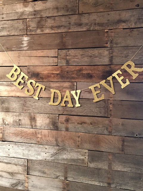 Best Day Ever Banner, Wedding Sign, Best Day, Wedding Decorations.