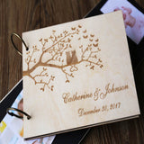 Custom Wedding Guest Book, Wood Rustic Wedding Guestbook, Lover of Cats guest book, Anniversary Gift