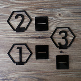 Geometric Table Numbers for Wedding, Gold Laser Cutout Hexagon Table Numbers Wedding Decor, Boho Centerpiece Table Decor