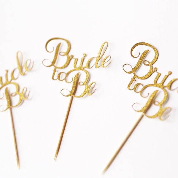 Glitter Bride to Be cupcake Topper, From Miss to Mrs Topper, Bridal Shower, Engagement Party Topper, Wedding cupcake topper
