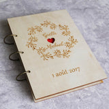 Wreath Wedding Guestbook Rustic Custom Guest Book wedding shower gift scrapbook