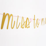 MISS TO MRS Banner, Gold Glitter Banner, bachelorette banner,engagement party decor,bridal shower decor