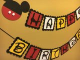 Mouse Party Birthday Banner Babyshower Banner Name Banner