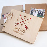 PersonalisedGuest Book - Wooden Guest Book - Wedding Guest Book - Gift for Couples - Tribal Arrows - Wedding Arrows