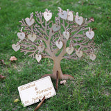 Wishing Tree Large Wooden Guest Book Alternative 3D Unique Guestbook Wedding Sign w Engraved Names Frameable Art Keepsake