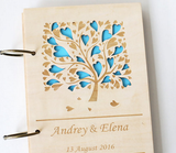 Heart Tree Wedding Gift, Rustic Wedding Guest Book, Custom Guest Book, Guestbook Wedding, Wood anniversary Guest Book, Laser Engraved