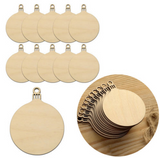(50pcs/lot) 50mmx 65mm Blank Unfinished Christmas Ornaments Ball Tags Rustic Wooden Tags