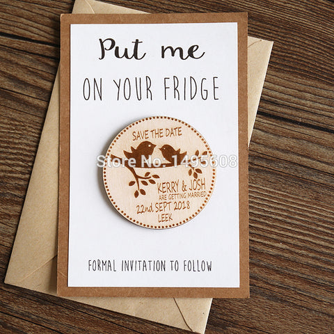 3a0d52781d7cf Save The Date Magnet - Rustic Wedding Save The Date Magnet - Antlers Wooden  Save The Date - Wedding Announcement