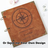 Personalized wedding Leather Photo Album/ Kraft Scrapbook Album /Wedding Guestbook/ guest book/Wedding gift book