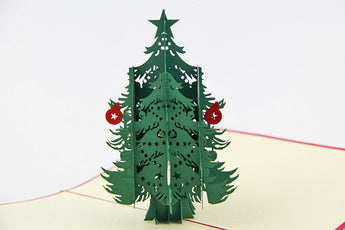 Christmas tree with gift pop up card 3D card handmade card greeting Christmas card