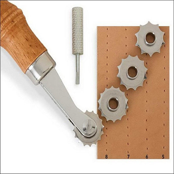 Leathercraft Spacer Embossing System For DIY Leather Craft Design Punch Tool