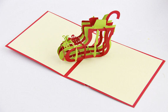 Christmas Stock pop up card 3D card handmade card greeting Christmas card