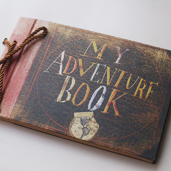 Our Adventure , DIY Scrapbook, photo album, 80 pages, wedding album,Christmas gift.