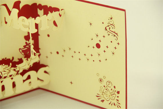 90 Degree BIG Xmas for Christmas in Pop up card