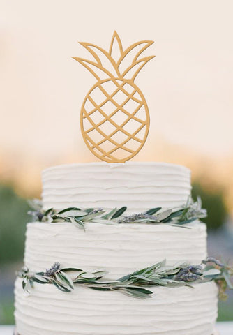 Pineapple Cake Topper Wedding Cake Topper