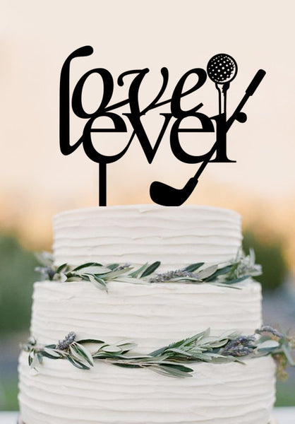 Lover Ever Golf Cake Topper - Custom Cake Topper-Cake Toppers - Bride & Groom Customized Golf Theme
