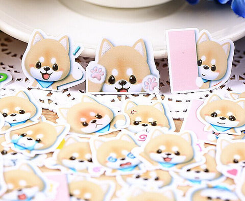 Cute Shiba Inu stickers/Puppy planner stickers/scrapbooking stickers 37pcs--S010