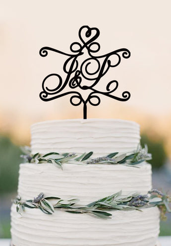 Monogram couple name cake toper,initial cake topper,wedding cake topper,cake topper wedding,unique cake topper,bride and groom topper