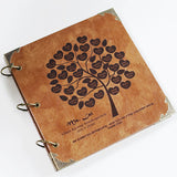 Personalized family Tree album/ Engraved Leather Photo Album/ Kraft Scrapbook Album /Wedding Guestbook/ guest book/Wedding gift book