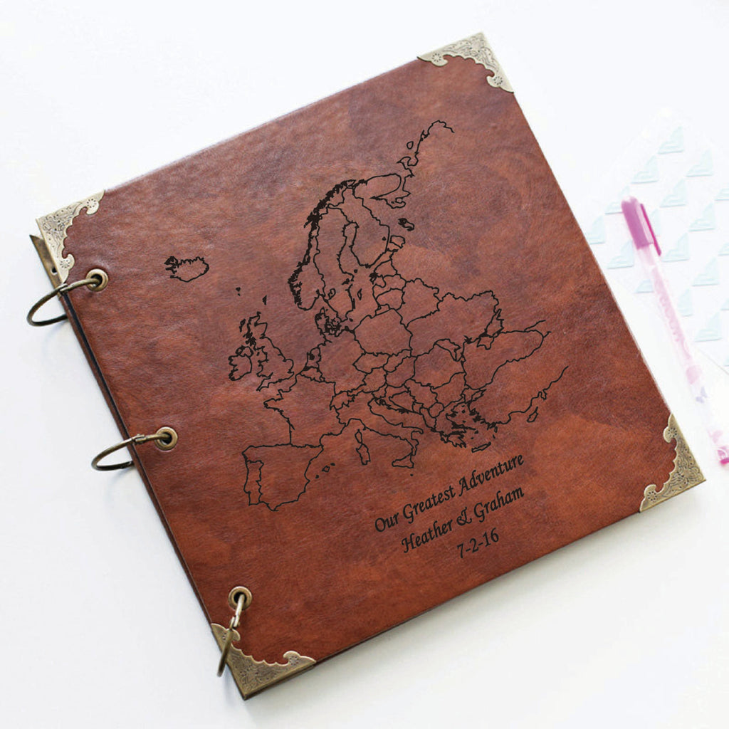 Personalized Map Travel Album/ Geography Album/Travel Memory Book/Adventures Album/Quote Album/ Journey Album