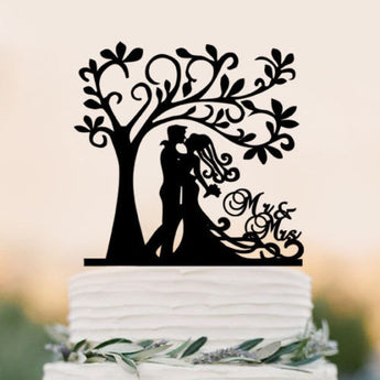 Acrylic Bride Groom Cake Topper Mr Mrs Tree Cake Topper Wedding Cake Topper Wedding Party Decoration,