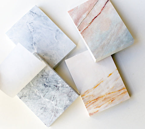 Marble Notepad, Tear-off Notepad,simple and minimalist marble memo pad,take note