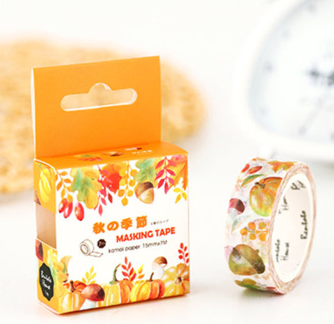 Custom and personalized orders Autumn Washi Tape/Nut Masking Tape/Decorative Stickers/Scrapbooking Stickers-T020