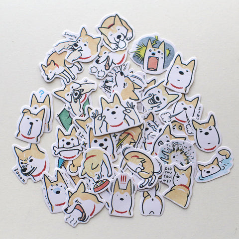 Watercolor Corgi Sticker Pack of 40 pcs planner stickers Erin Condren die cut--S017