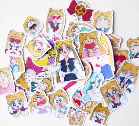 Sailor Moon stickers 36 pcs planner stickers Erin Condren Stickers plant stickers cartoon stickers--S053