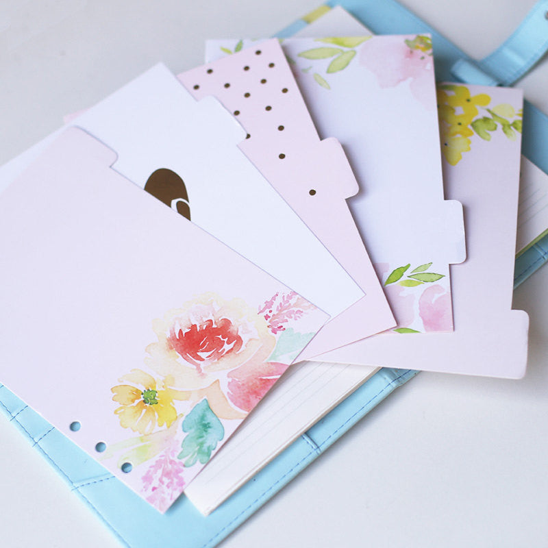 Spring floral theme dividers/A5 index/ Personal size planner dividers/hello Dashboard