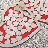 Custom Double Heart Drop Box, Wedding Guest Book Alternative