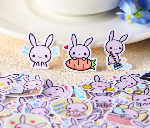 Cute rabbit stickers/planner stickers/scrapbooking stickers 40pcs--S009