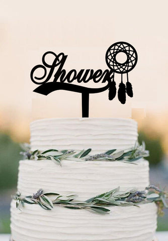 Dream catcher cake topper baby shower dream catcher party birthday decor